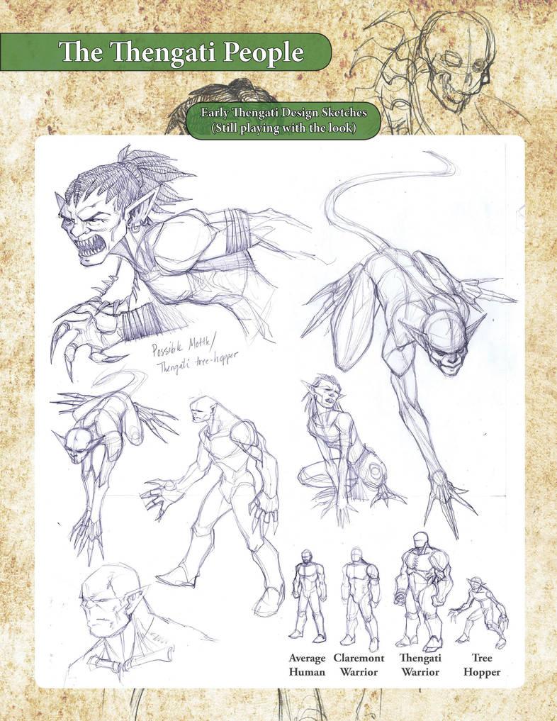 Thengati Concept Sketches by LazarusReturns