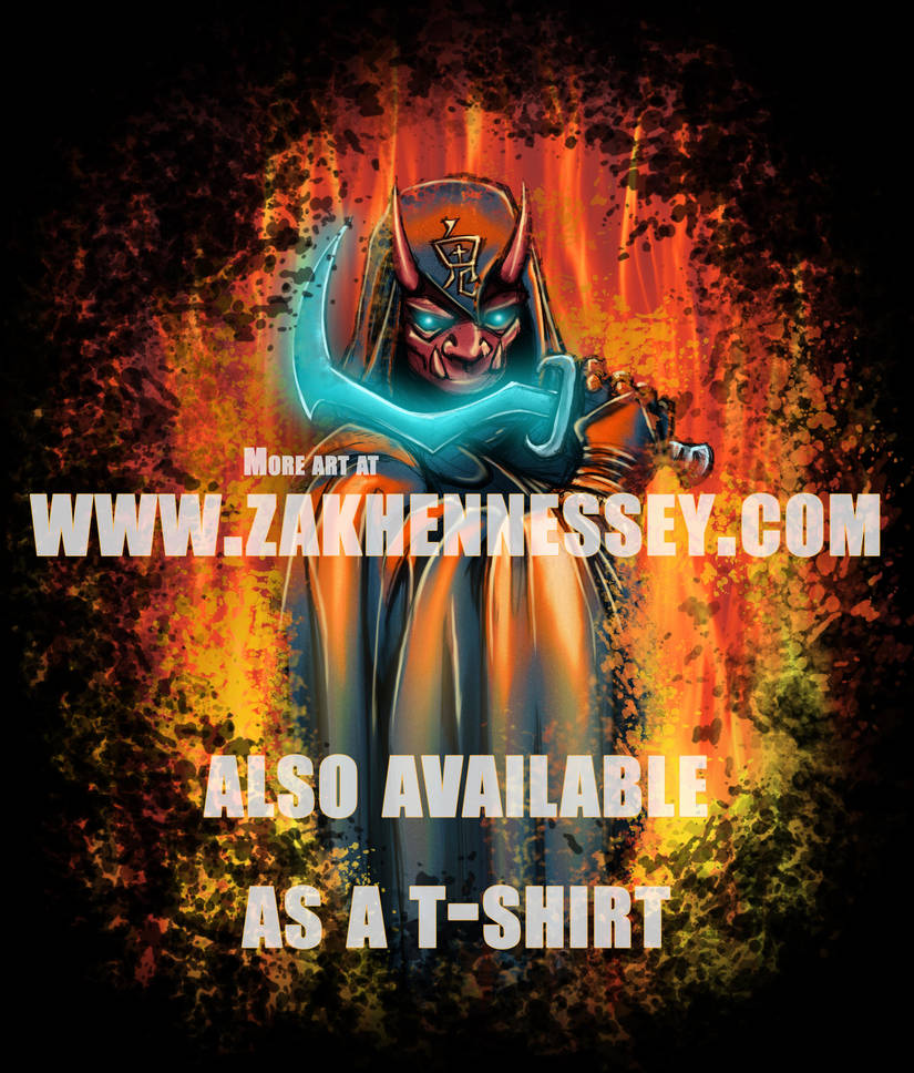 Oni Ninja Cultist Merchandise Artwork by LazarusReturns