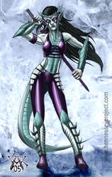 Half Dragon Elf by LazarusReturns