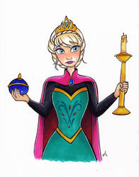 Elsa coronation by My-Anne
