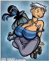 Ninja on Wheels by lightfootcomics