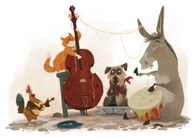 The Bremen musicians by T-U-L-P