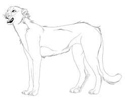 -Free Use- Cheetah Lineart by Kalenka