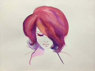 Watercolor Girl by marciacocco