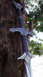 Skyrim Steel Greatsword Replica Close-up by TheAnti-Lily