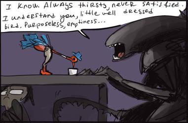alien movie, doodles 2 by Ayej
