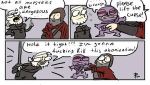 The Witcher 3, doodles 200 by Ayej