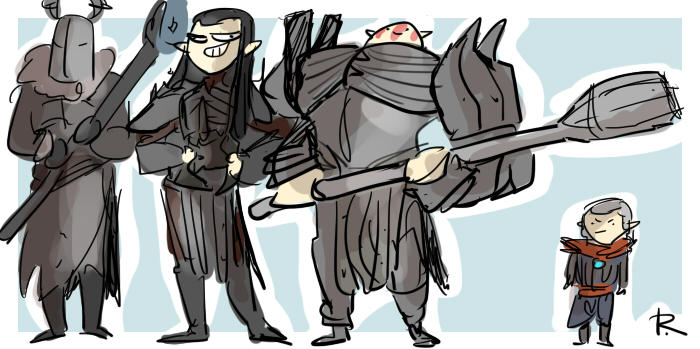 The Witcher 3, doodles 268 by Ayej