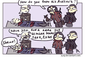 The Witcher 3, doodles 277 by Ayej