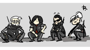 The Witcher 3, doodles 305 by Ayej