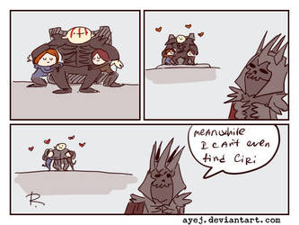 The Witcher 3, doodles 306 by Ayej