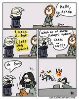 The Witcher 3, doodles 328 by Ayej