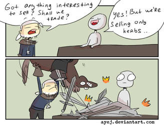 The Witcher 3, doodles 347 by Ayej