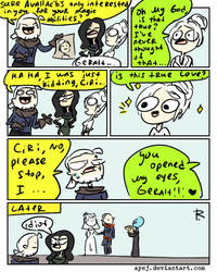The Witcher 3, doodles 357 by Ayej