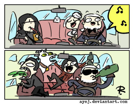 The Witcher 3, doodles 360 by Ayej