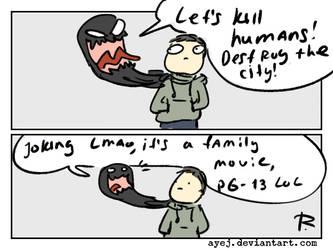 Venom the movie doodles 4 by Ayej