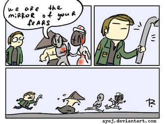 Silent Hill, doodles 26 by Ayej