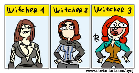 The Witcher 3, doodles 377 by Ayej