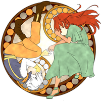 Rivey and Iriel stained glass window by sarahyt