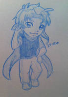 Chibi Shiro - birthday present for Foxie by sarahyt