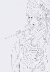 Collaboration with Shiroichi Art | lineart by Kirichii-Art