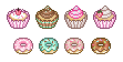 Cupcakes and Donuts by Cazbean