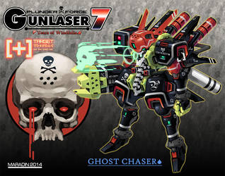 Plunder Force Gunlaser 7: Ghost Chaser Skull Laser by Nidaram