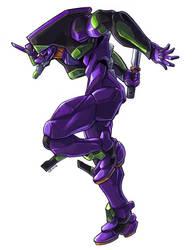 Evangelion Unit 01 by Nidaram