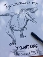 Tyrannosaurus rex by Purple-Raptor