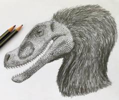 Velociraptor sketch by Purple-Raptor