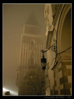 Night in Cracow - November fog by Lady-CaT