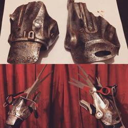Edward Scissorhands Hand Plates and Test Fit by DrOctoroc