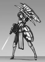 Shield Bearer by Brobossa