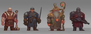 The Magnificent Four - Cast by Brobossa