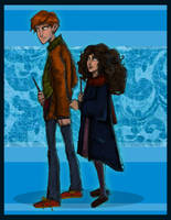 Ron and Hermione- first year by HILLYMINNE