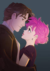 Remus and Tonks by HILLYMINNE