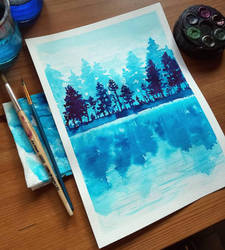 Monochrome Watercolour Study by devilguineapig