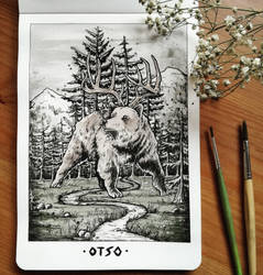Inktober 2018 Day 4: Otso by devilguineapig