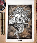 Inktober 2018 Day 7: Faun by devilguineapig