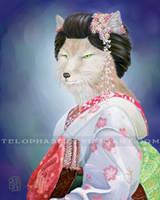 Kitsune Maiko by telophase