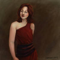 APT01 - Woman in Red Dress by telophase