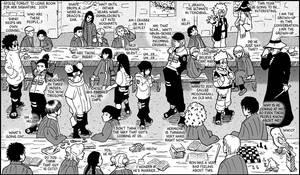 Kiriban - Naruto vs Hogwarts by telophase