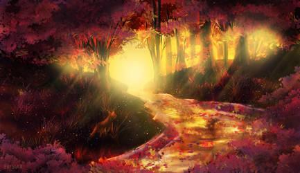 Autumn Forest Fox by Erisiar