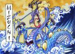 Mizuchi Of The Great Waves by HallowGazer