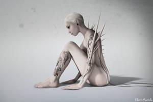 Porcelain Cyborg by ElliottMontello