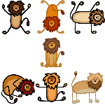 Stick Lion Icons by lionobsession