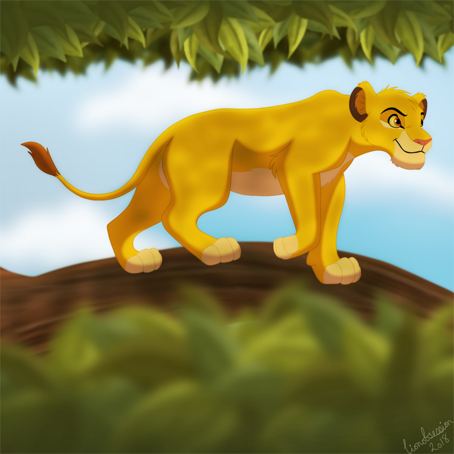 Simba in a Tree by lionobsession