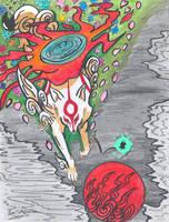 Okami Amaterasu by dd4rri3nd