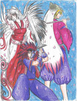 Okami, Oki and Waka by sdark391