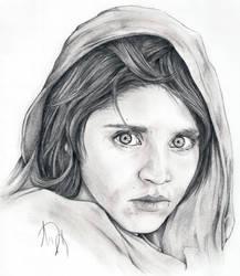 Steve McCurry's Afghan Girl by Skimbleshanks2